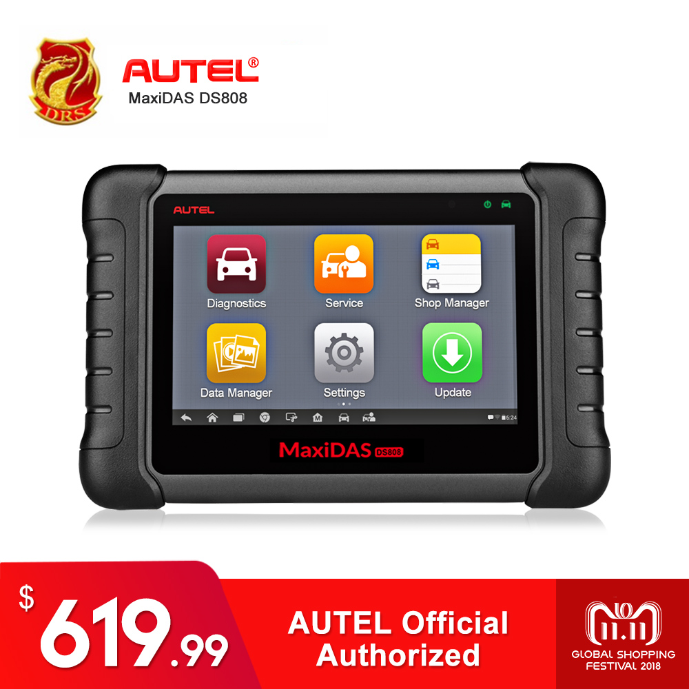 Autel MaxiDAS DS808 KIT Remote WIFI Diagnostic Tools OBD2 Scanner Car Scan Tool Update Online Key Programming Better Than DS708