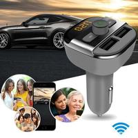 Auto Car Styling Bluetooth Car Kit Wireless FM Transmitter Dual USB Charger Audio MP3 Player June26