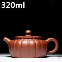 Handmade Water Kettle 320ml Purple Clay Yixing Teapot ZiSha Pots Chinese Tea Set Oriental Kung Fu Tea Pots Home Drinkware