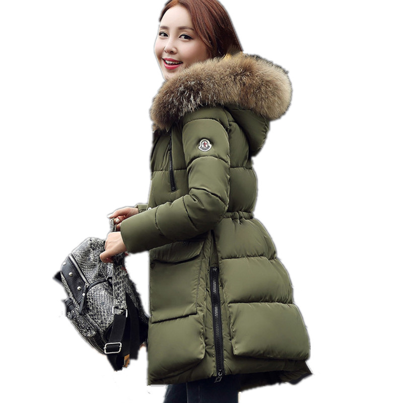 Large Faux Fur Collar High Quality Hood Padded Winter Coat Women Thick Warm Parka Jacket Women Casual Safari Winter Coat TT3497 zip up faux fur hood parka jacket