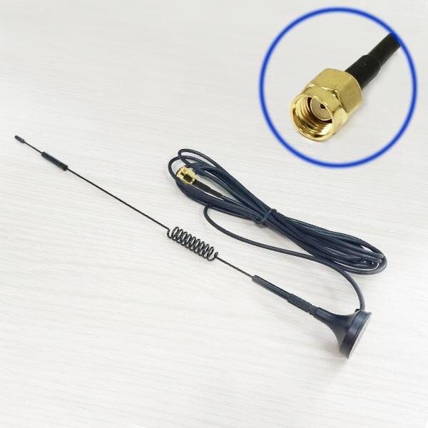 bilder für 1 STÜCK 2,4 GHz antenne 7dBi High gain Omni WIFI Antenne magnetfuß 3 Mt kabel RP SMA Stecker #1 wifi antena booster
