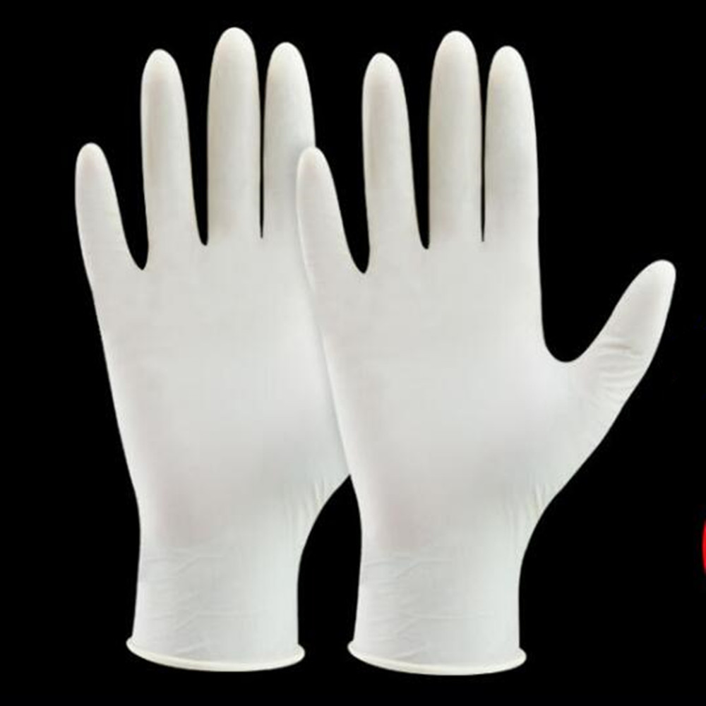 100 Pcs/box Disposable Latex Gloves Disposable Dental Checkup White Latex Rubber Gloves стоимость
