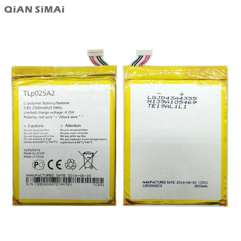 QiAN SiMAi Haute Qualité TLP025A2 Batterie Pour Alcatel One Touch 8008D Scribe HD OT8000 8000D 6043D Pour TCL Y710 Y900