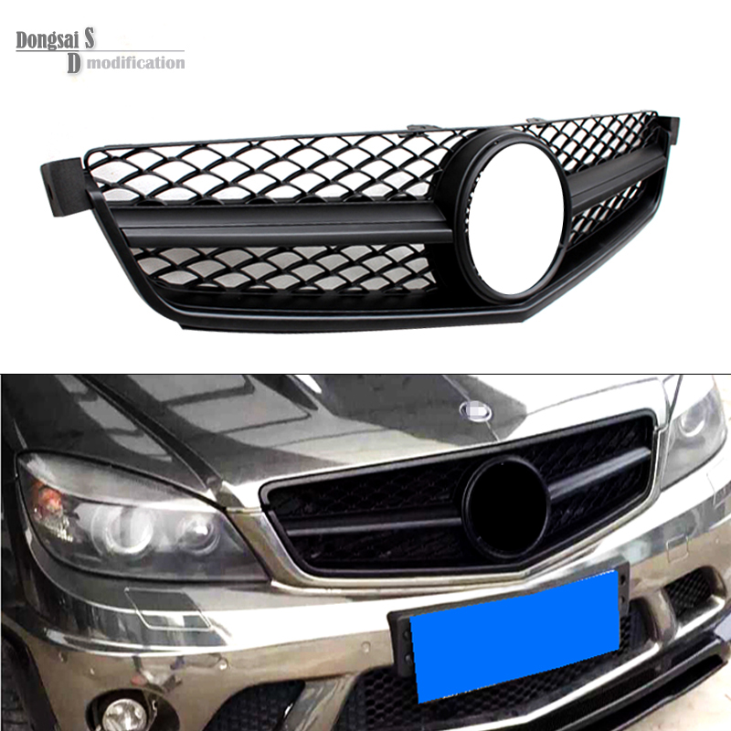 Mercedes c class c63 amg front bumper mesh grill grille for Mercedes benz c300 grill