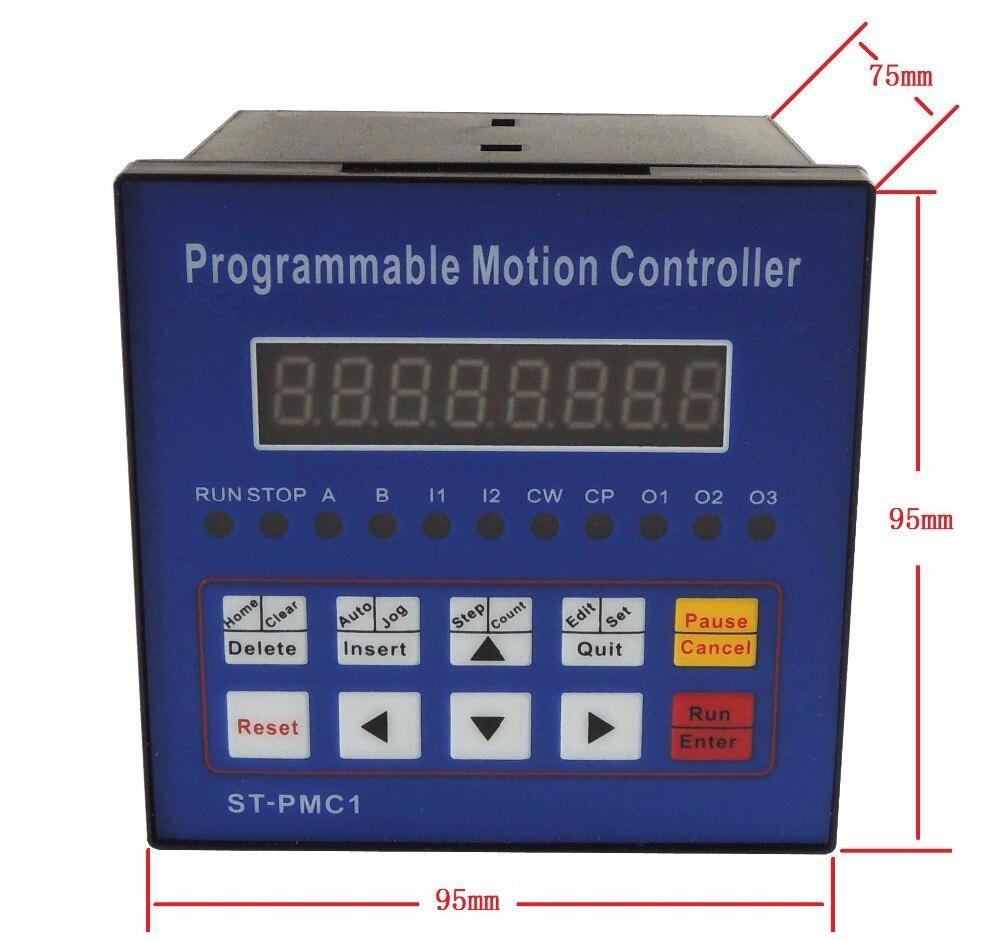 Envío gratuito controlador de motor paso a paso CNC controlador de movimiento controlador de eje único programable ST-PMC1 - 5