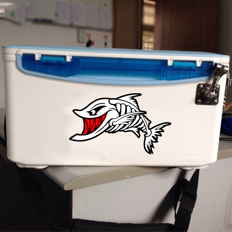 Fierce shark design stickers on car laptop fridge closestool and so on,reflective car decals and stickers styling vinyl glue