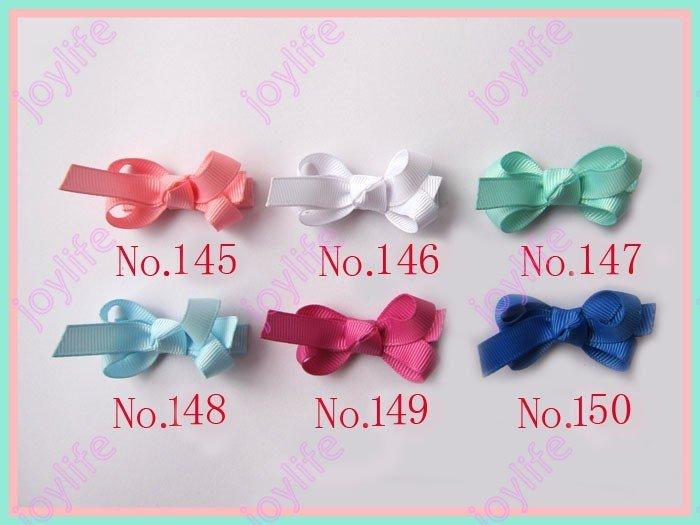 Новинка, 160 шт., 2 дюйма, модный мини-топ, Цветочные заколки для волос, разноцветные банты для волос для девочек