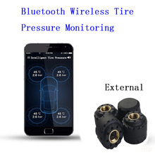 2017 Mobile Phone APP Display Pure Bluetooth Car TPMS Tire Pressure Monitoring Voice Alarm System External Wireless Transmission