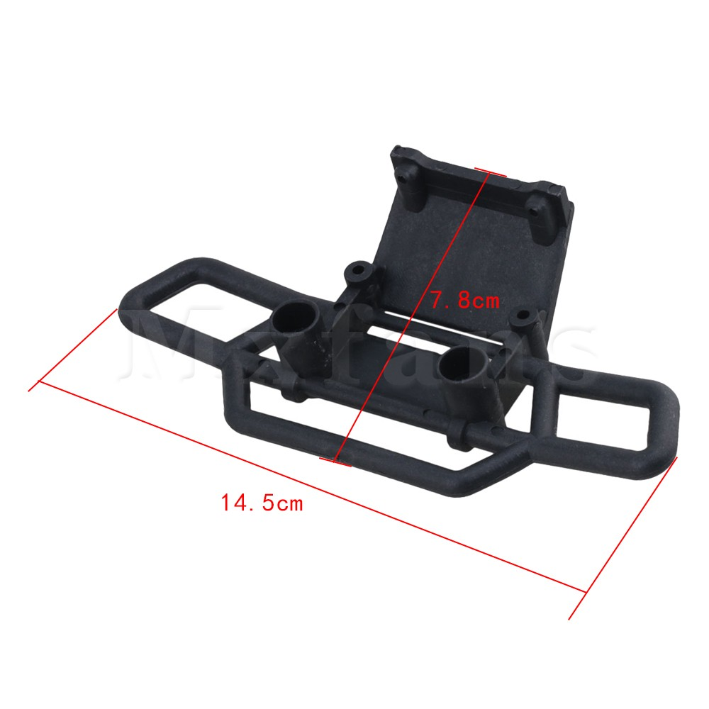 Mxfans Black Plastic RC Front Bumper 08002 for HSP 1:10 Toys Vehicle Replacement Parts