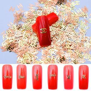 800pcs/pack 3D Brand Logo Nail
