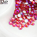 Hyacinth AB 1440pcs/bag SS3-SS20 3D Nail Rhinestones Flatback Glass Strass Non HotFix Rhinestone For DIY Nails Super Deal Shiny