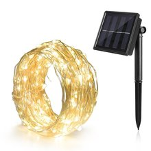10M Solar Powered String Lights 100 LED Copper Wire Waterproof Fairy Indoor/Outdoor Patio Decoration Light