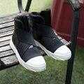 2016 Super Caliente del Invierno de Los Hombres de La Pu Botines de Cuero de Los Hombres otoño Plataforma de Nieve Botas de Martin Del Ocio Otoño Invierno Patea Los Zapatos Mens