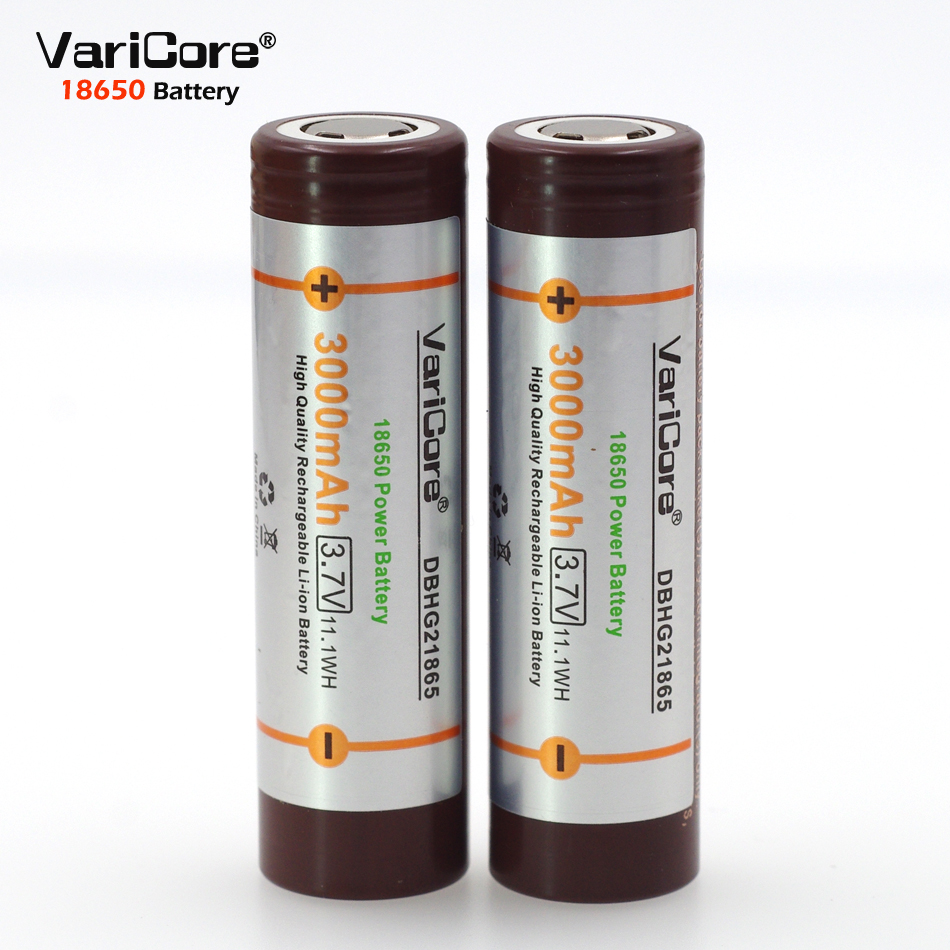 2pcs.VariCore HG2 original Electronic special battery 3000mAh high-discharge power 30A lithium battery current Rechargeable batt