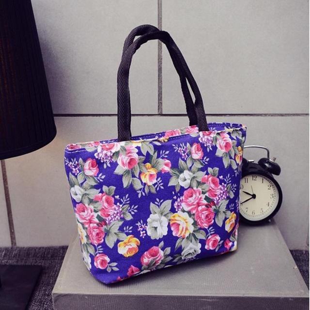 New waterproof women hobo handbag portable flower print shoulder bags  fashion shopping travel mummy bag canvas tote bags c90c6bac91e12