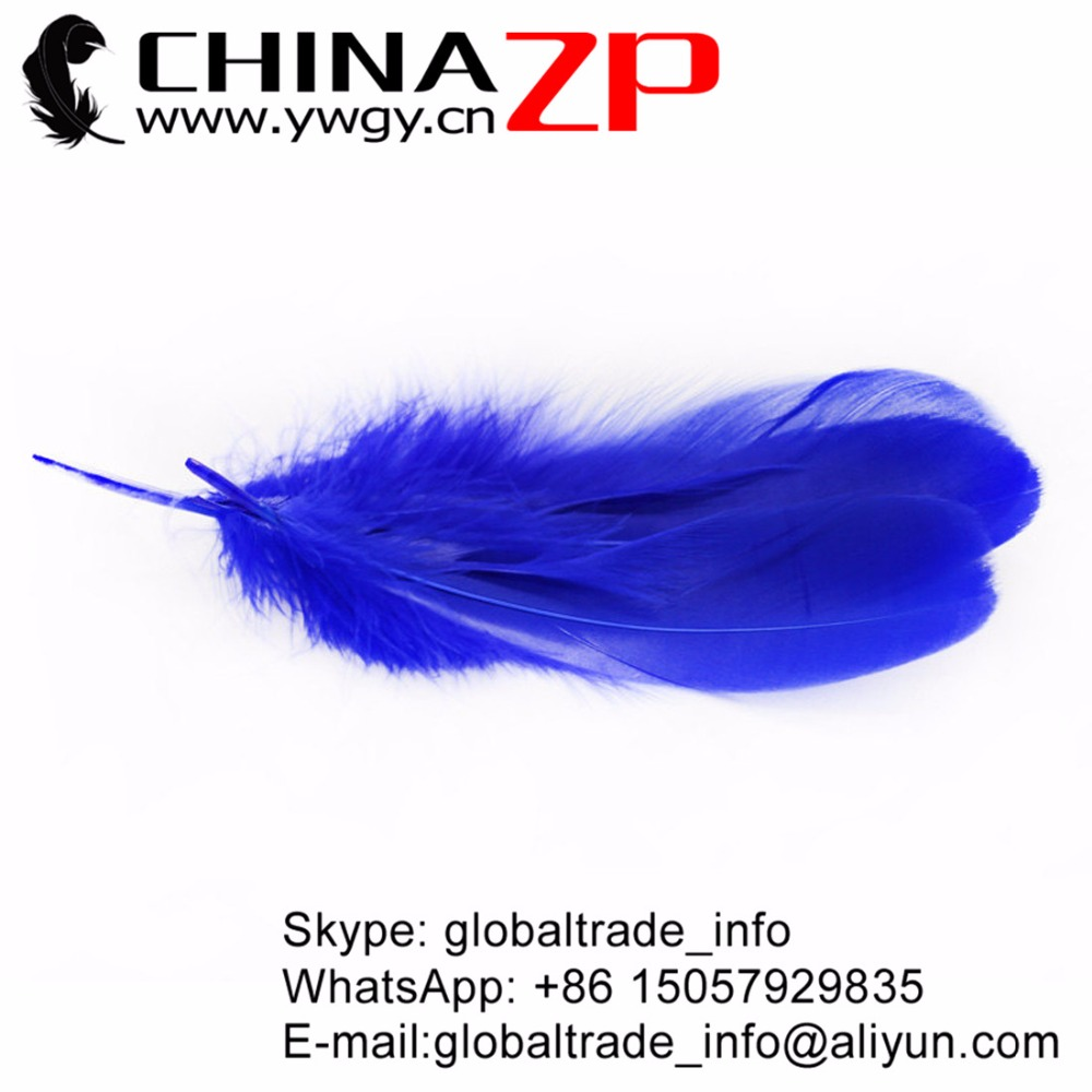 Gold Manufacturer CHINAZP Factory 100pcs/lot Cheap Wholesale Dyed Purple Goose Nagoire Loose Feathers