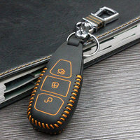 Car Covers Styling Modification Cow Leather Handmade Key Case For Car For Ford Fiesta Focus Kuga Starline Automotive Interior