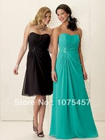 Unique Bridesmaid Dresses Chiffon 2014 New Fashion Pleat With Beading Off The Shoulder Sleeveless Free Shipping