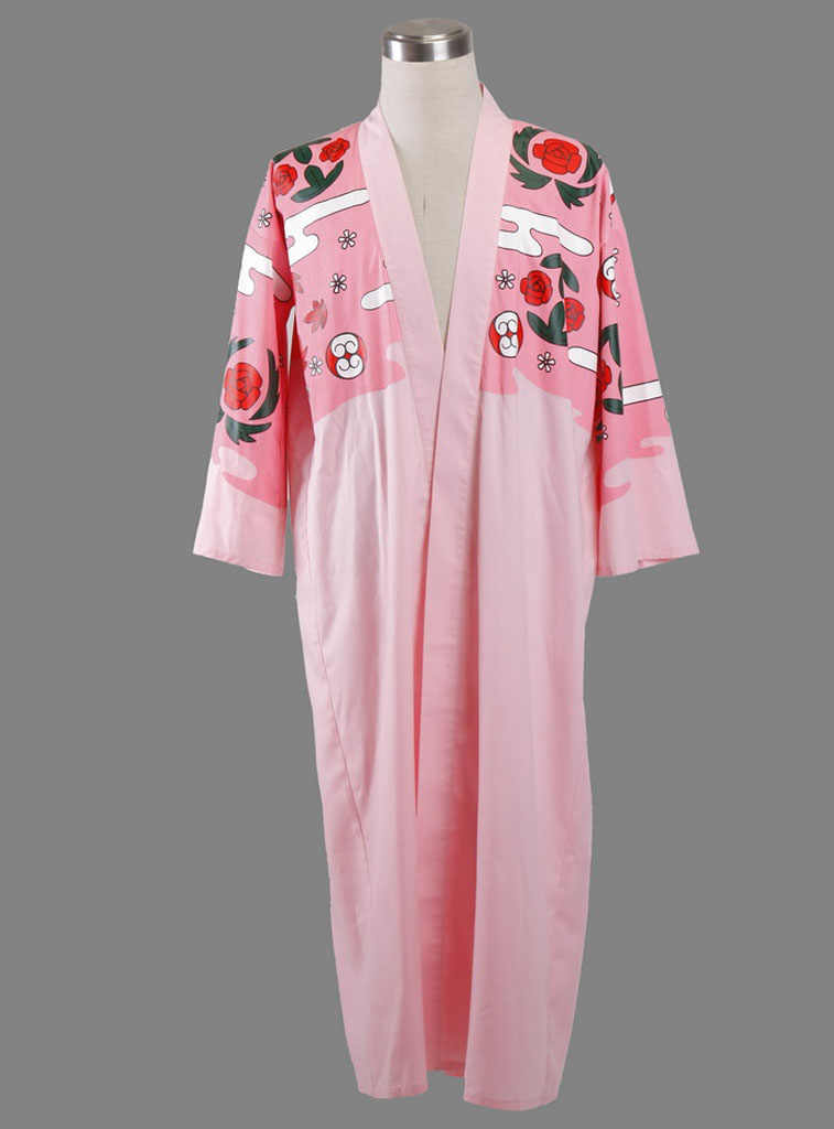 Bleach Kyoraku Shunsui Cosplay Costume Mantel Kimono Top Fres Pengiriman