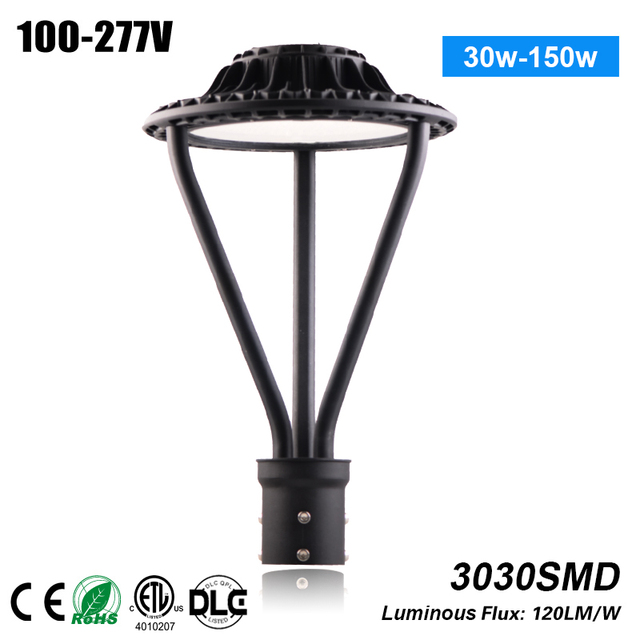 Fancy Outdoor Post Lights: High Power Decorative 130lm/w Outdoor 150w Post Top Led