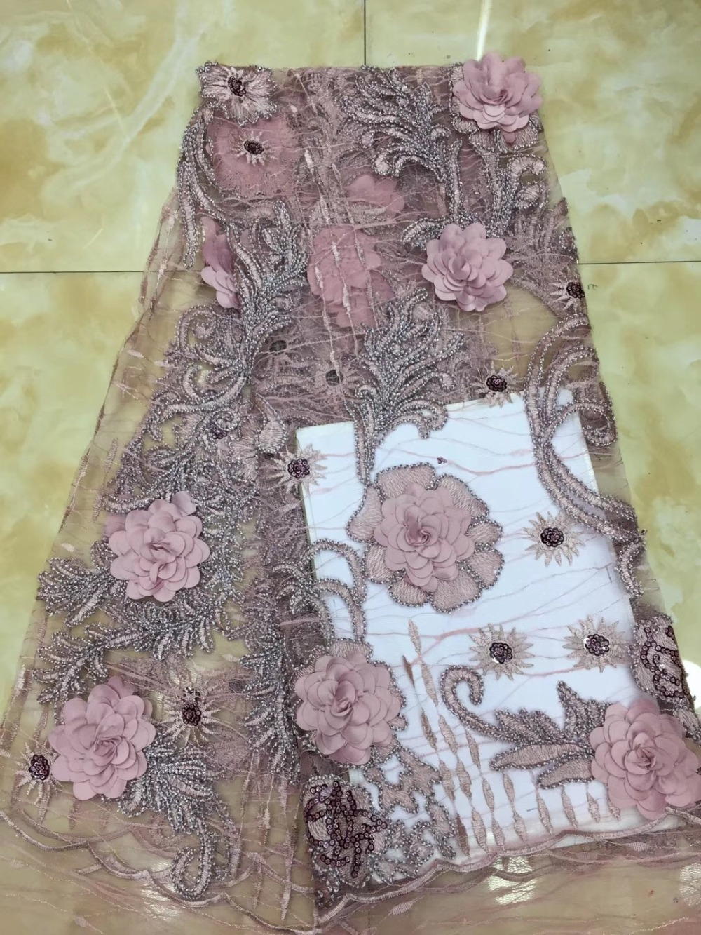 New African Lace Fabric, 2018 Latest French Quality Lace Fabric, Embroidered with Nigerian Lace FabricNew African Lace Fabric, 2018 Latest French Quality Lace Fabric, Embroidered with Nigerian Lace Fabric