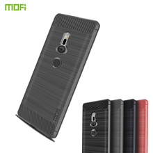 MOFi For Sony Xperia XZ2 Case Cover Soft Silicon Cases Carbon Fiber Case For Sony Xperia XZ2 Phone Case Fundas Back Cover цена и фото