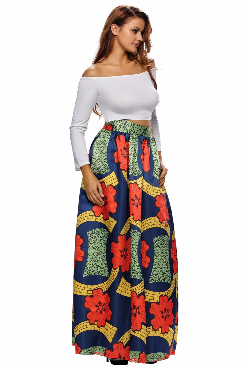 Big Size Women Skirt Summer Wear Skirts Colorful Floral ...