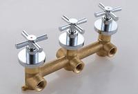 Envío gratis Nuevo chrome Terminado 3 Manijas de Montaje En Pared de baño y grifo de la ducha Ducha válvula Mezcladora IS013