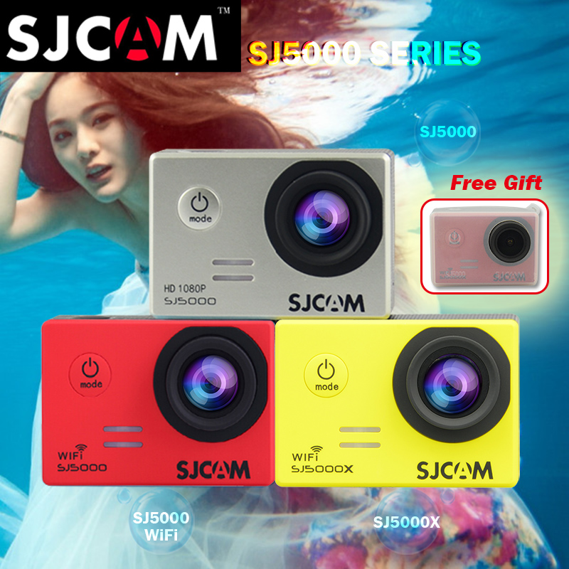 Original SJCAM Series SJ 5000 & SJ5000 Wifi(Novatek 96655)&SJ5000X Elite WiFi NTK96660 Gyro Sport Action Sport Waterproof SJ CAM 2 0 4k sjcam sj5000 series sj5000x elite wifi ntk96660 mini gyro 30 waterproof sports action camera sj cam dvr many accessories