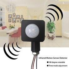 Di alta Qualità 10 MILLIMETRI 220V PIR Sensore di Movimento A Infrarossi Interruttore di Modalità di Regolazione Rotate160 Gradi Per Illuminazione A LED per Esterni