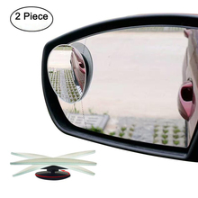 цена Blind Spot Mirrors Frameless 360 Degree Rotate Sway Adjustabe HD Glass Convex Wide Angle Rear View Car Stick On Lens онлайн в 2017 году