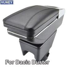 Podłokietnik dla Renault Dacia Duster I 2010 2015 podłokietnik obrotowy schowek dekoracja pudełka Car Styling 2011 2012