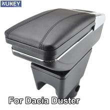 พนักพิงสำหรับRenault Dacia Duster I 2010 2015 แขนหมุนได้กล่องเก็บตกแต่งจัดแต่งทรงผมรถ 2011 2012