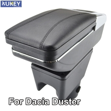 Reposabrazos giratorio para Renault Dacia Duster I 2013 2018, caja de almacenamiento, decoración, estilismo para coche, 2010, 2015