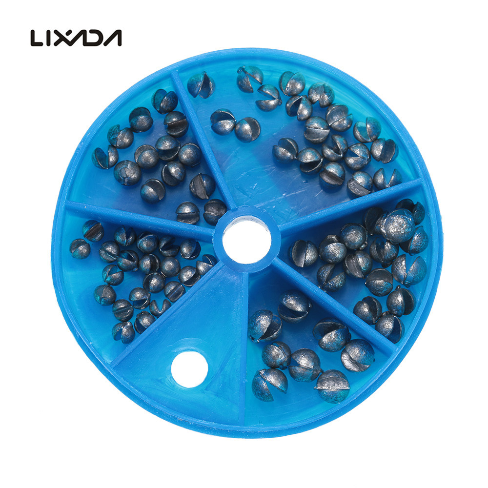 76pcs/Lot 5 Sizes Round Split Shot Lead Weight Pesca Acesorios Freshwater Lead Drop Black Fishing Sinker Kits Fishing Tackle