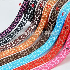 Free Shipping 1 Giraffe Stripe Printed Ribbon China Printed Ribbon Polyester Ribbon