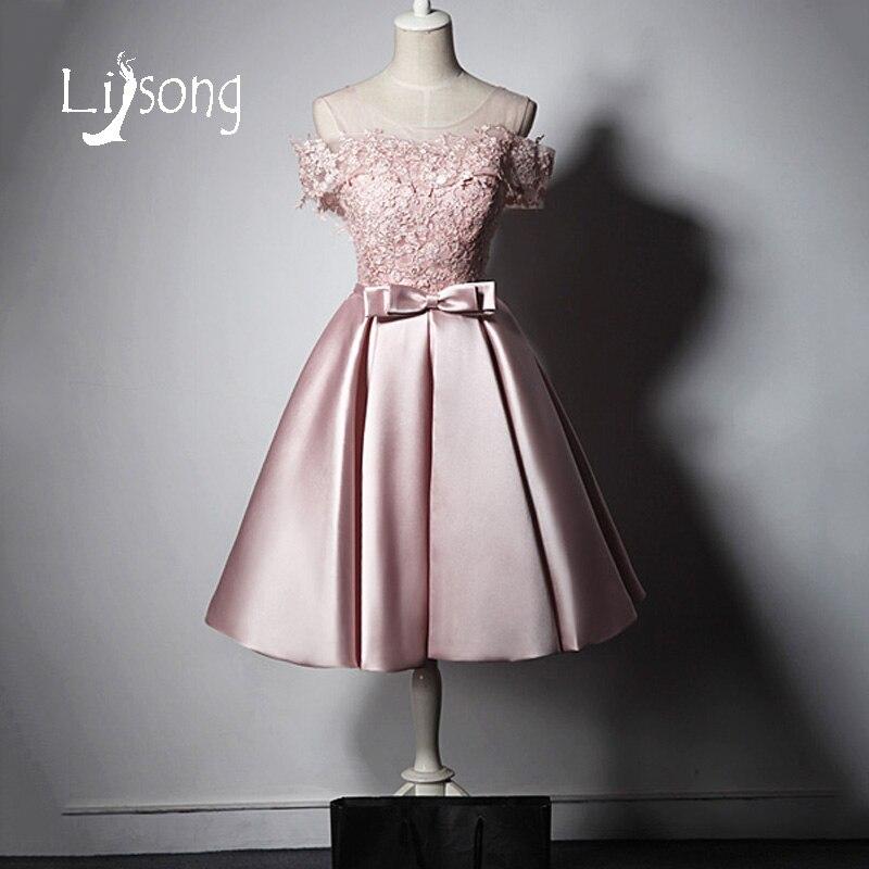 Robes de bal en dentelle rose hors épaule robes de bal princesse robes de fête vestido de festa 2018 robes de bal robe d'anniversaire
