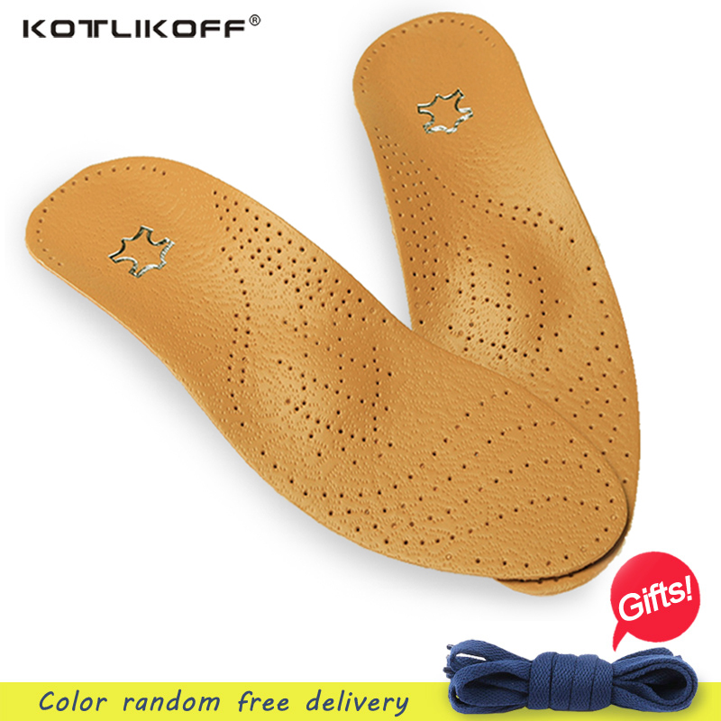 Unisex Premium Leather Orthotic Flat Foot Shoe Insoles High Arch Support Orthopedic Pad for Correction OX Leg Health Care premium orthotic gel high arch support insoles eva pad 3d arch support flat feet for women men orthotic insole shoe inserts