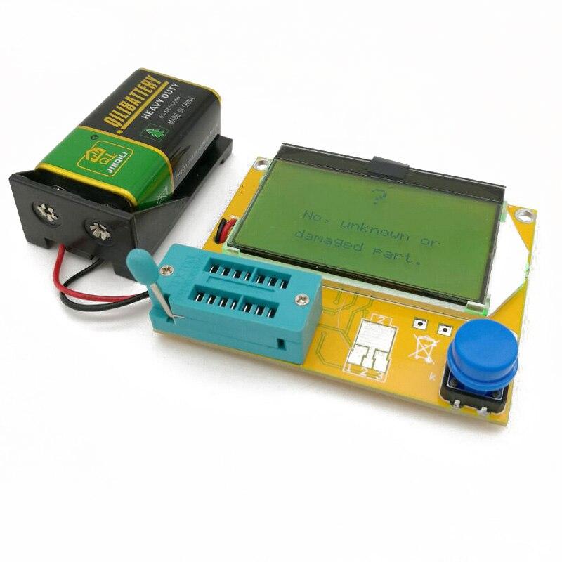 TTransistor Tester LCR-T4 Mega328 M328 Multimeter Diode Triode ESR battery tester MOS/PNP/NPN L/C/R+ battery holder