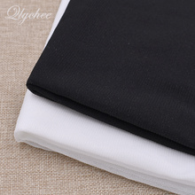 100*112cm Polyester Stretch Knitted Iron On Interfacing Sticking Lining Black White DIY Craft Quilting Patchwork