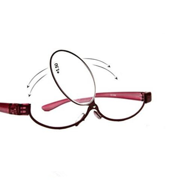 94eb9a5d1fa Women Rotating Makeup Reading Glasses Cosmetic Presbyopia Reading Eyewear  Make Up Glasses Diopter +1.5 +2.0 +2.5 +3.0 +3.5 +4.0