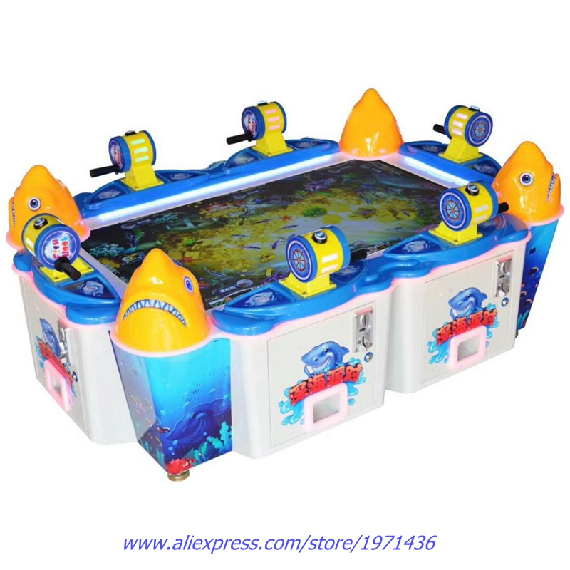 6 Players Video Games Amusement Equipment Deep Sea Party Token Coin Operated Fishing Arcade Game Machine