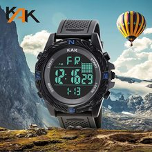 Men Digital Sport Calories Watches Thermometer Weather Forecast LED Watch Luxury Pedometer Compass Mileage Metronome Clock gimto sport smart watch men digital bluetooth pedometer calories smartwatch waterproof alarm clock mens watches top brand luxury
