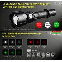KLARUS FH10 زوومابلي التكتيكية مصباح ليد جيب 3000mW الأخضر ضوء ليد أحمر أبيض ضوء 700 لومينز 18650 بطارية للصيد
