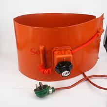 200 l (55 galões) 125x1740x1.8mm 1000 w/1500 w flexível silicone banda tambor aquecedor cobertor óleo biodiesel plástico metal barril