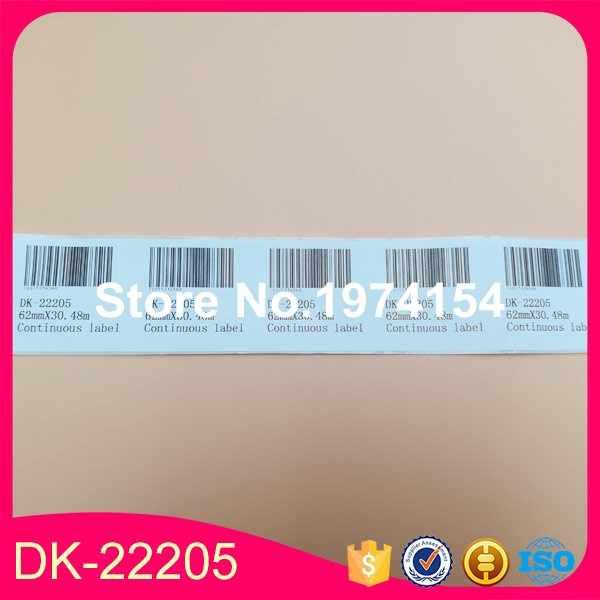 8x Rolls Saudara Kompatibel Label DK-22205, 62mm x 30.48 m, berkelanjutan Paper Label, DK 22205, DK 2205 brother label, label dymo