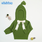 Newborn Baby Sweaters Clothes Grey Hooded Designer Sweater for Toddler Girl Autumn Casual Infant Knitting Jumper Kids Cardigans