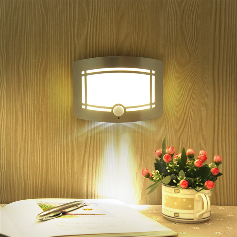 New Wireless Infrared Motion Sensor Wall LED Night Light Novelty Battery Powered Porch Night Lamp Motion Sensor Light For Home цена