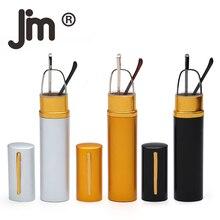 JM 3 Pack Compact Reading Glasses Spring Hinge Readers Portable Pocket Clip Case