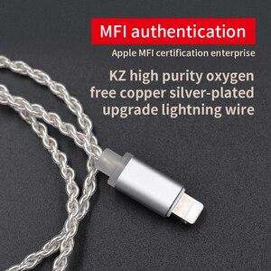Image 5 - AK KZ Verlichting Dock Kabel 2Pin/MMCX Connector Plated Zilveren Kabel Voor KZ ZS5/ZS6/AS16/ ED16/ZST/ES4/AS12/ZS10/AS10/ZSN Pro/ZSX